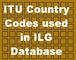 Country Codes used in ILG Database