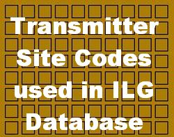 Transmitter Sites Codes in ILG Database