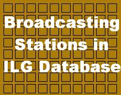 Broadcasting Stations listed in ILG Database (update June 15th 2020)
